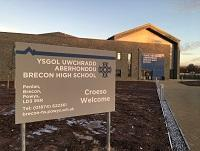 Image of Brecon High School's new building