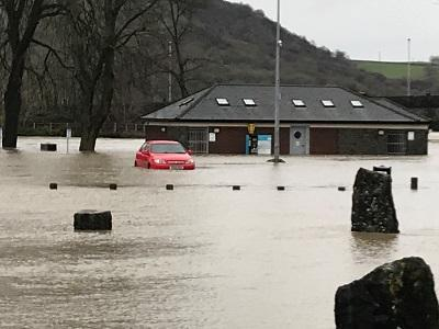 Image of Builth flooding