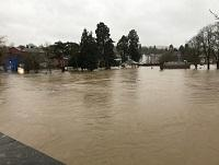 Image of Builth Wells flooding