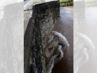 Image of damage to Crickhowell Bridge