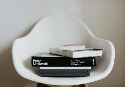 Image of books on a chair