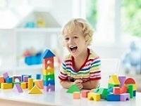 Image of child playing with blocks