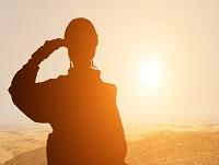 Image of a soldier saluting