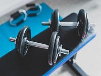 Image of weights in a gym
