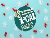 Support Local Powys Christmas Logo - English