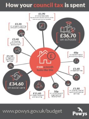 How your Council Tax is spent infographic 2020
