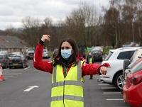 Grace Moucharafieh volunteering as a way-finder marshal