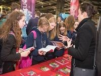 Image of young people at the careers fair