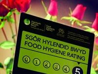 Image of a food hygiene rating sign
