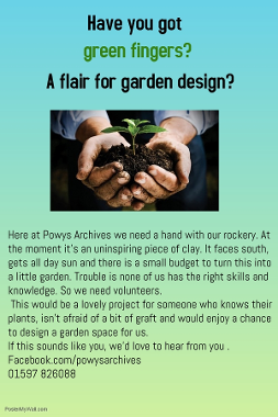 Click here for more information on being a gardener volunteer