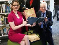 Minister officially opens Knighton Library