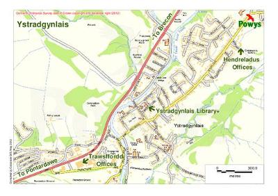 Ystradgynlais map