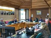 Image of Welsh Government ministers meeting with Powys officials