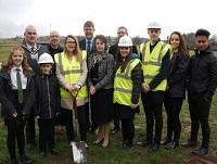 Image of the turf cutting ceremony