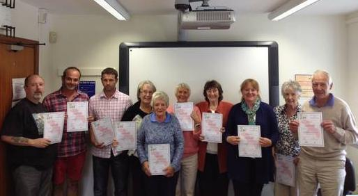 Image of people who have completed Rent Smart Wales training