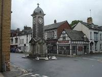 Image of the clock tower in Rhayader