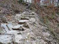 Image of the steps at Pistyll Rhaeadr