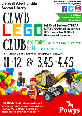 Brecon Library Lego Club Poster