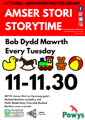 Brecon Library Story Time Poster