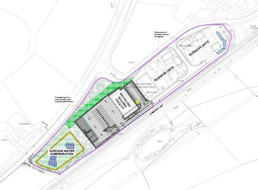 Image of the plans for Abermule business park