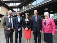 Image of officials at the Mid Wales growth meeting