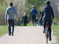 Image of people cycling and walking