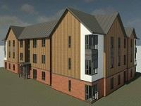 Design plans for the new flats in Newtown