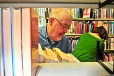 Image of someone looking at books