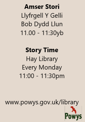 Hay Library Story Time poster