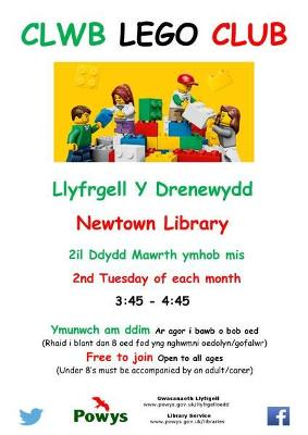 Newtown Library Lego Club Poster