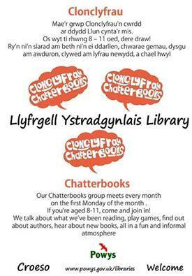 Ystradgynlais Library Chatterbooks Poster