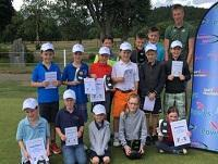 Image of some young golfers