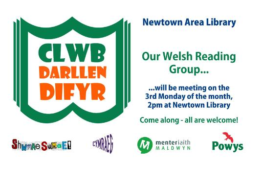 Newtown Welsh reading group advert poster