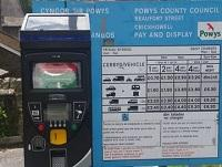 Image of a Powys parking meter