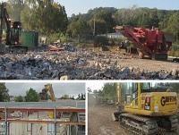 Image of the new waste recycling centre works