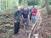 Image of some volunteers at the Offa's Dyke trail