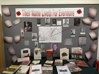 Image of the Remembrance day display