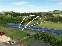 Image of a design for the new bridge in Newtown