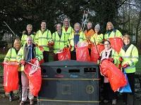 Image of a group of litter pickers