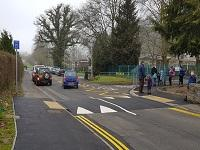 Image of cars and people in Presteigne
