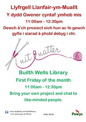 Builth Wells library Knit and Natter