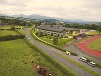 Image of an artists impression of the new Brecon High School