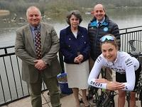 Image of launch of OVO Energy Women's Tour stage at Llandrindod Lake