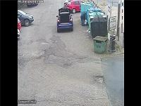 Image of CCTV footage of fly-tipping taking place