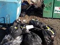 Image of fly-tipping outside Llandrinio Village Hall