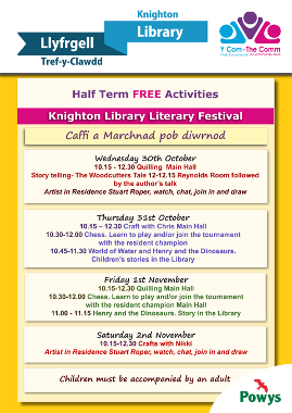 Knighton library half term activities